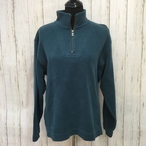 Tommy Bahama teal blue 1/4 pullover sweatshirt - L